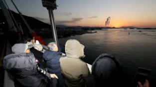 '한국의 아름다운 길 100선'에 뽑힌 삼천포대교 일원에서 경자년 해맞이 체험 행사 개최